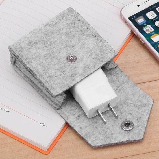 Opbergetui | Koptelefooncase | Grijs | Soft case| Kabel organizer | Kabel tasje | Oordopjes tasje |