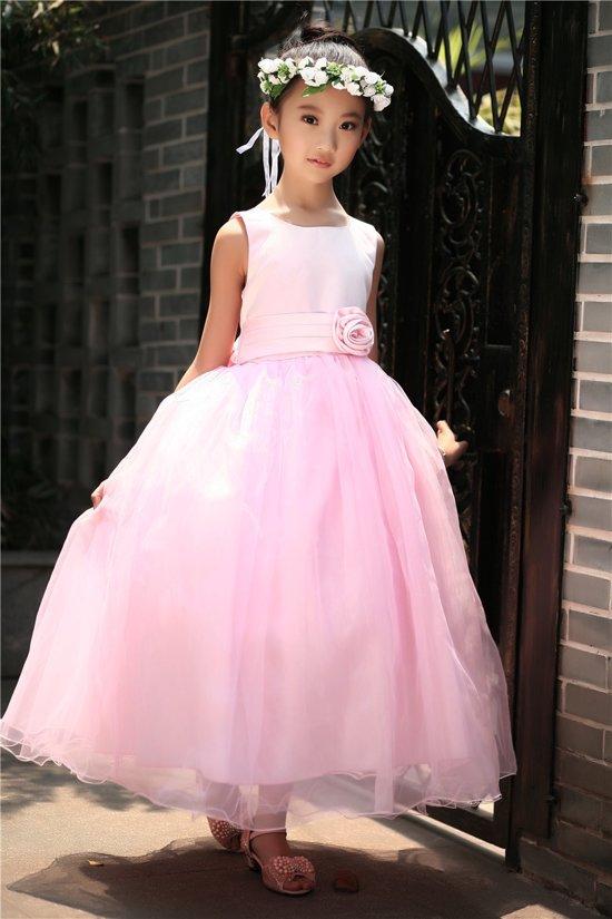 4a381f87bb4e0b Meisjes Feestjurk Sasha - roze - maat 110