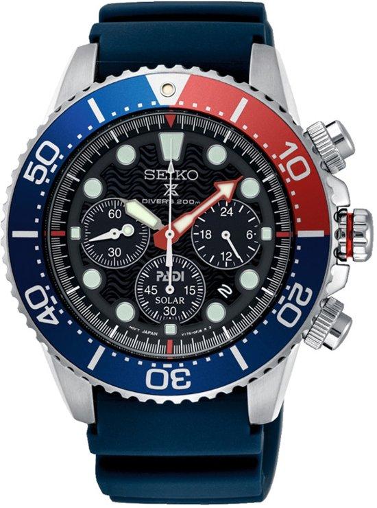 f87d8889d9df45 Seiko Prospex SSC663P1 horloge heren - blauw - edelstaal