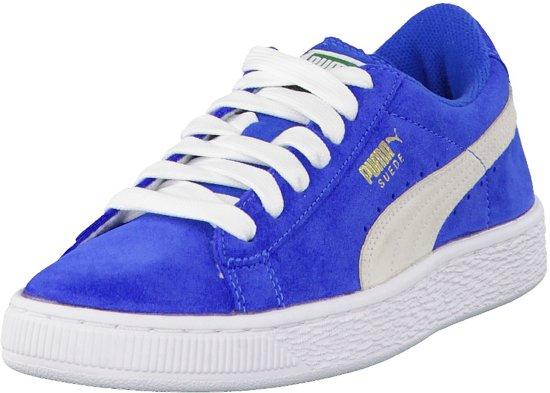 b99234914cc bol.com | Puma Suede Sneakers - Maat 37 - Jongens - blauw/wit