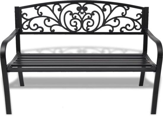 vidaXL Tuinbank 127 cm gegoten aluminium zwart