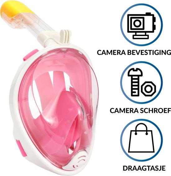 9970b073696176 Gadgy Duikmasker Kids - Full face duikbril met snorkel - snorkelset roze -  snorkelmasker