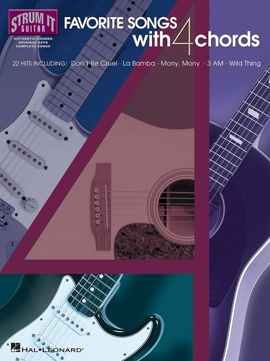 Bol Favorite Songs With 4 Chords Songbook Ebook Hal
