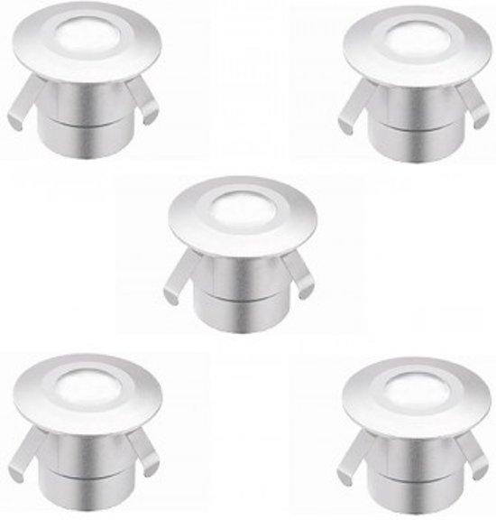 led terrasverlichting ronde modules 3200k warm wit ip67 5 stuks