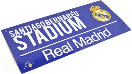 Real Madrid Plaat - Sign - Blauw