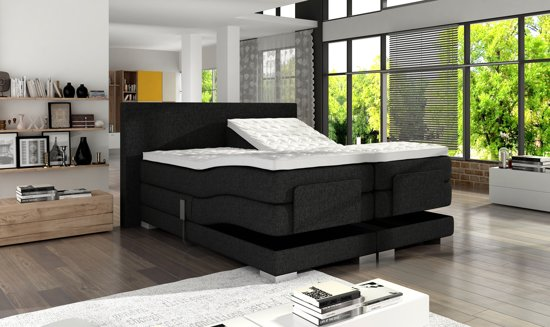 Topper 180x200 Boxspring.Boxspring 180x200 Cm Antraciet Compleet Met Topper