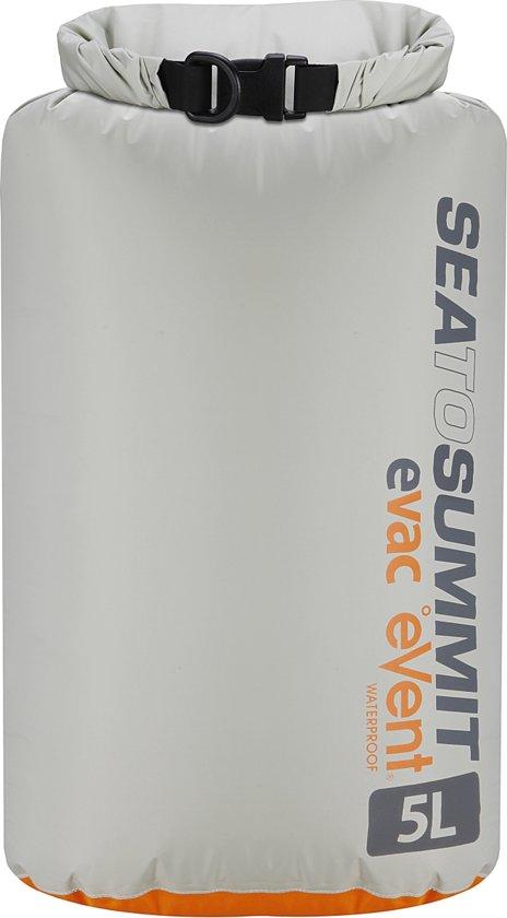 Sea to Summit eVac eVent® Dry Sack Waterdichte zak - 5L - Grijs/oranje