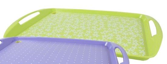 Dienblad met handgrepen Lime Groen met print  HxLxB 3 x 44 x 30,5 cm