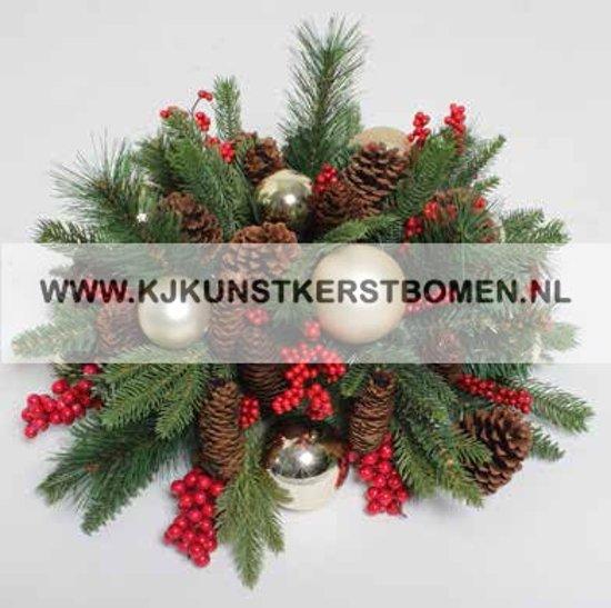 Bol Com Kerststukje Voor Op Tafel Met Gouden Kerstballen