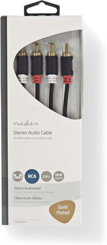 Nedis RCA - RCA Kabel 2 Meter