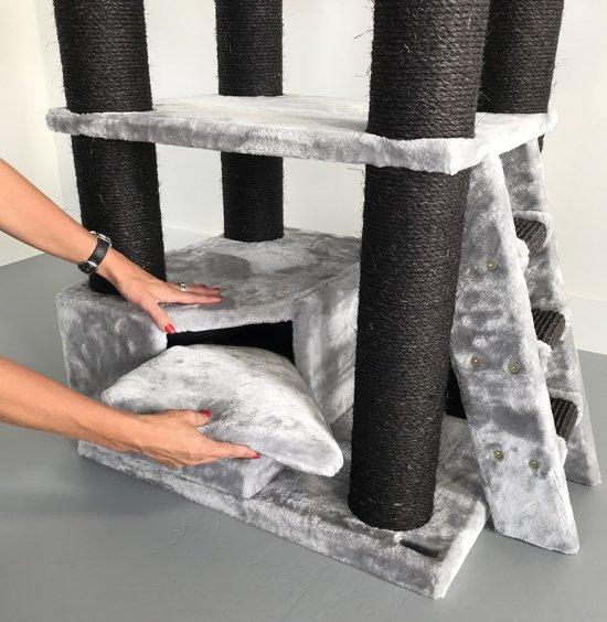 Krabpaal Corner Coon Blackline Grijs voor grote katten