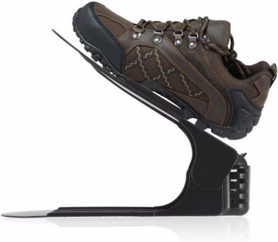 Schoenen Organizer 10 Stuks Effectief Opbergen Schoenen Stapelen Met Handige Schoenenrek Zwart