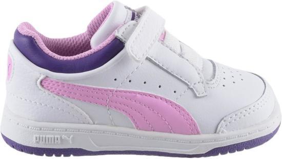 3b06f04b045 bol.com | Puma Full Court Lo V - Sneakers - Meisjes - Maat 27 - Wit
