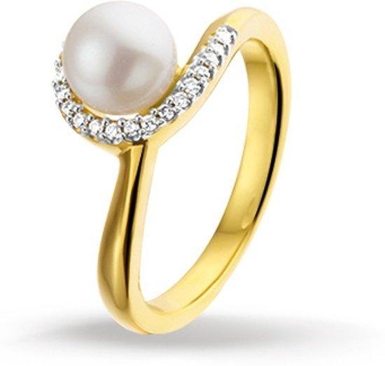Beroemd bol.com | Huiscollectie 4014810 Gouden ring met parel en diamant VY32