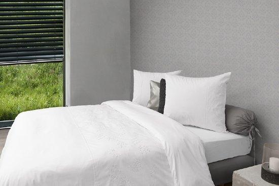 HNL Charming Dekbedovertrek Barbara White-240 x 200/220 cm