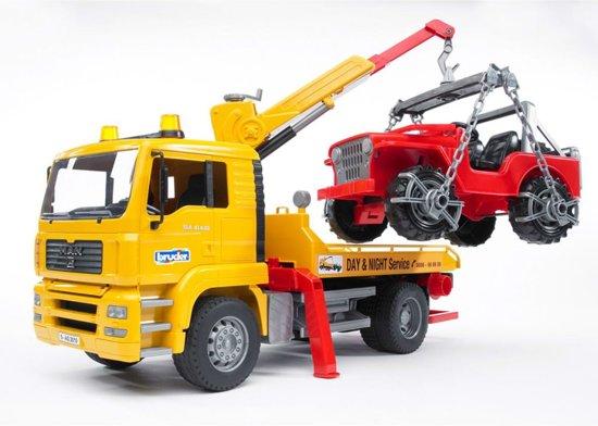 Bruder Man TGA Takelwagen + Jeep