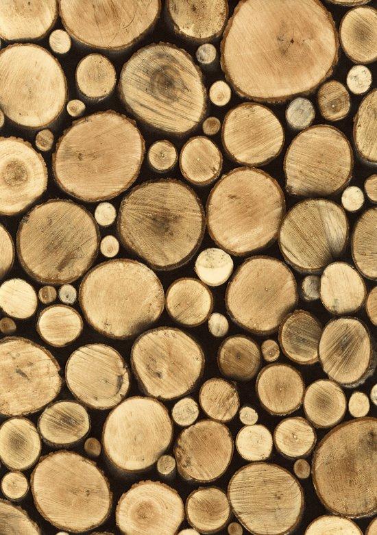 2LIF Logs Tafelzeil - PVC -  140 x 240 cm