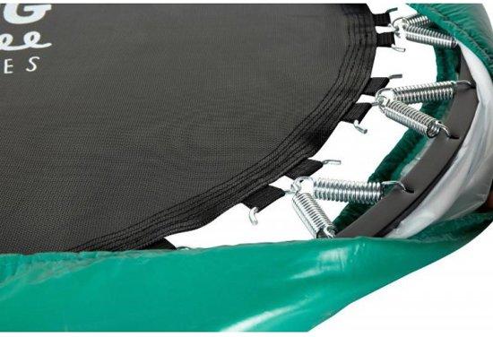SPRING Mini Trampoline - 140 cm opvouwbaar - Black Edition - groene rand