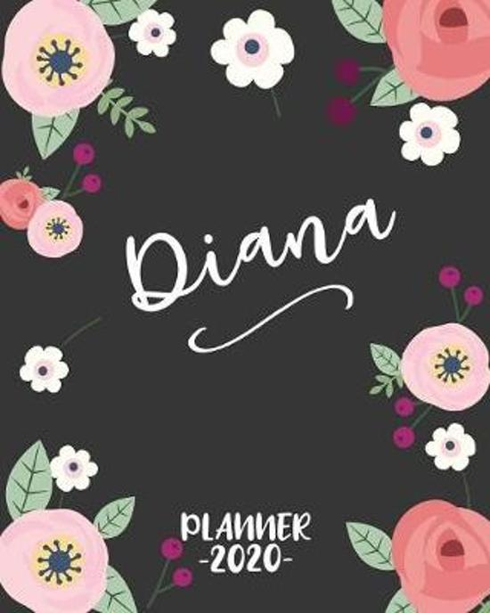 Diana: Personalized Name Weekly Planner. Monthly Calendars, Daily Schedule, Important Dates, Goals and Thoughts all in One!