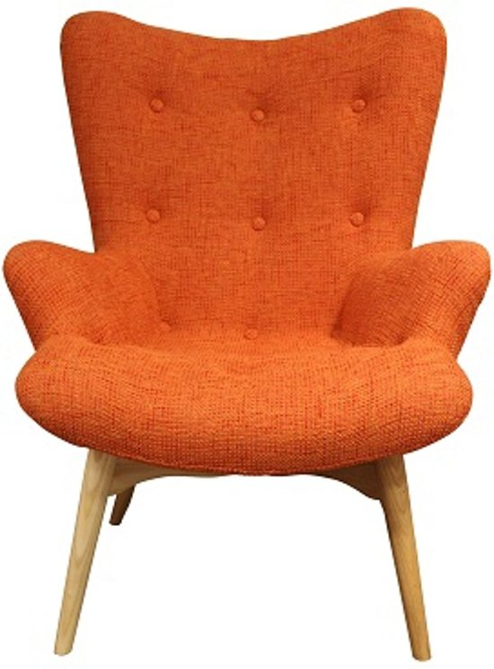 Fauteuil Oranje Stof.Zenie Fauteuil Oranje Knitted