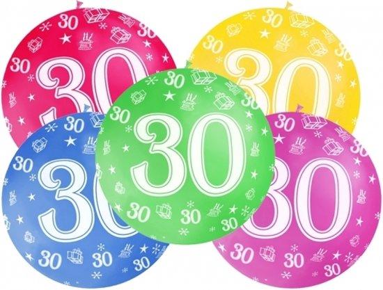 ballonnen 30 jaar bol.| Mega ballon 30 jaar   Fuchsia roze   30 jaar versiering  ballonnen 30 jaar