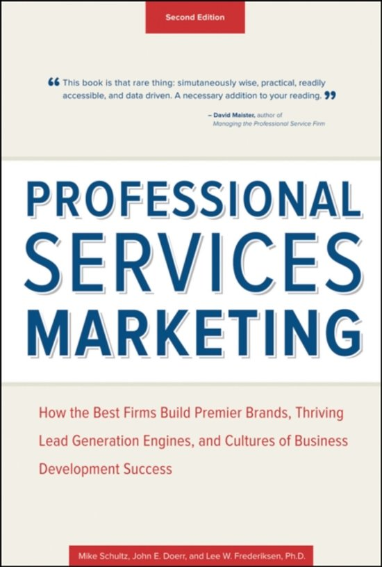 Boek cover Professional Services Marketing van Mike Schultz (Hardcover)