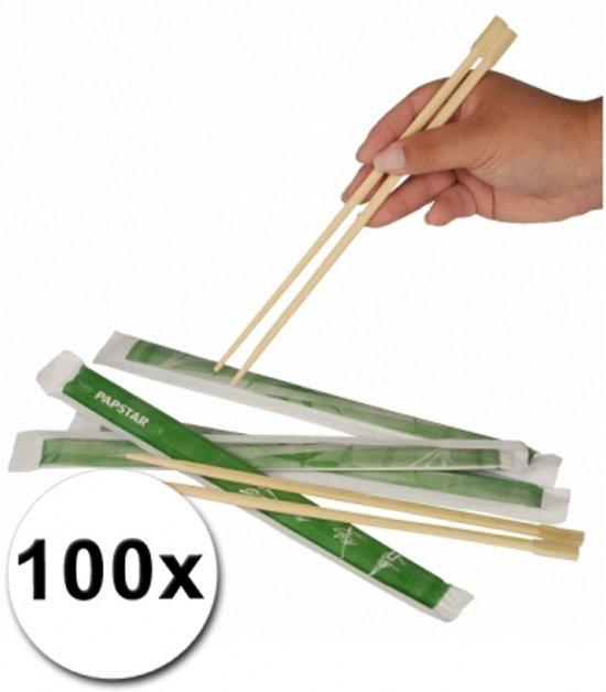 Eetstokjes - 100 Stuks - Bamboe - Hout