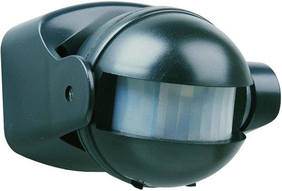 Smartwares ES34Z Bewegingsmelder - Voor binnen en buiten - Detectiebereik  12m. x 180° - Zwart