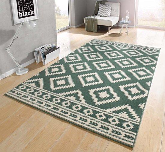 Vloerkleed  ethno 120x170cm groen, creme Hanse Home
