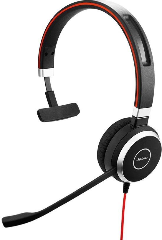 Jabra Evolve 40 UC Mono Monauraal Hoofdband Zwart hoofdtelefoon