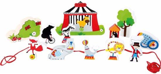 Houten circus speelgoed set 13-delig