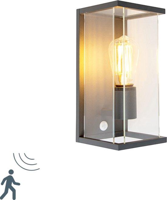 bol.com | QAZQA Zaandam - Wandlamp met sensor - 1 lichts - D 155 mm ...