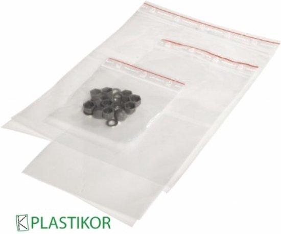 Gripzak met dicht druk sluiting 135x230mm neutraal - 1000 Stuks
