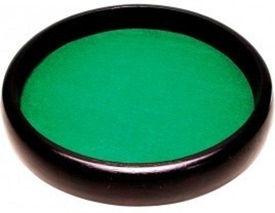 Afbeelding van het spel Dobbelpiste bruin hout,rond 35cm.groen vilt