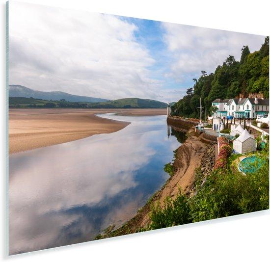 Portmeirion bij Gwynedd Verenigd Koninkrijk Plexiglas 90x60 cm - Foto print op Glas (Plexiglas wanddecoratie)