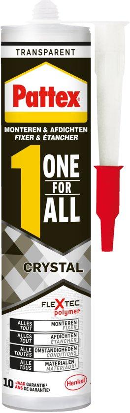 Pattex One for all Crystal - Montagekit - Montagelijm - 290gram