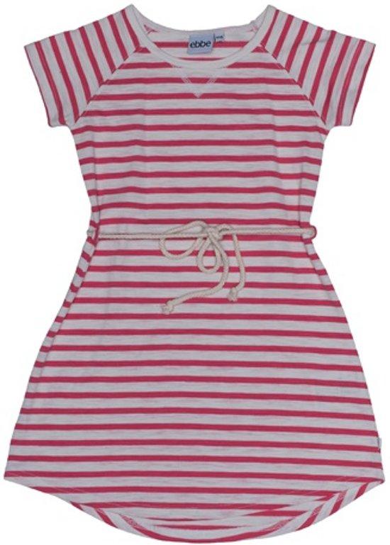 Ebbe gestreepte jurk roze