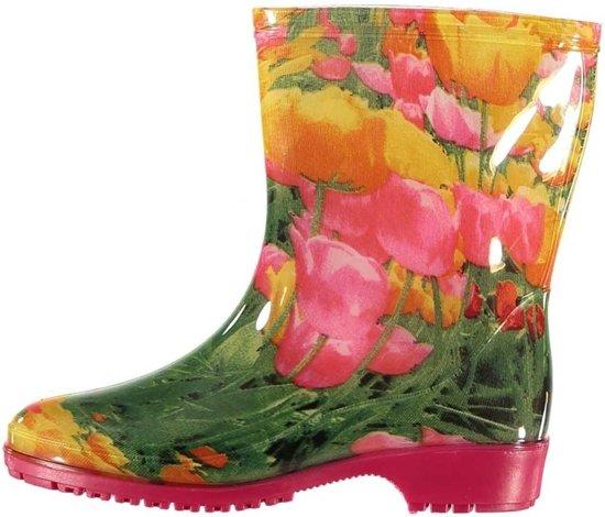 95ba726a28ef83 bol.com | Halfhoge dames regenlaarzen tulpen print 37