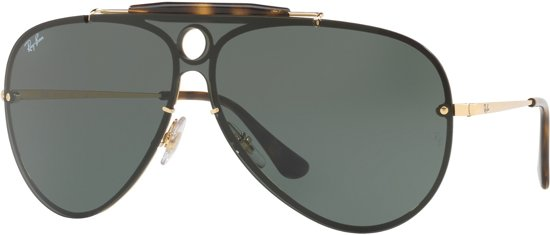 7a2870adfe44ab Ray-Ban RB3581N-001 71 - zonnebril - Goud-Zwart   Groen