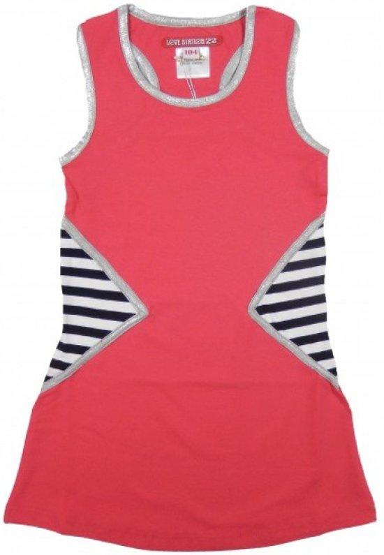 LoveStation22 basic Dress Hard Pink maat 104