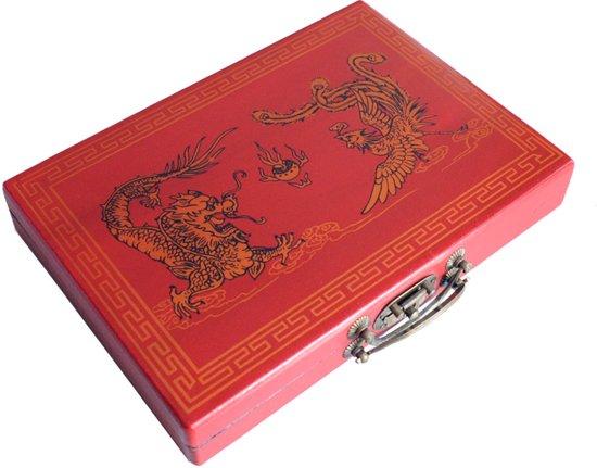 Mah-Jong in luxe houten koffer S