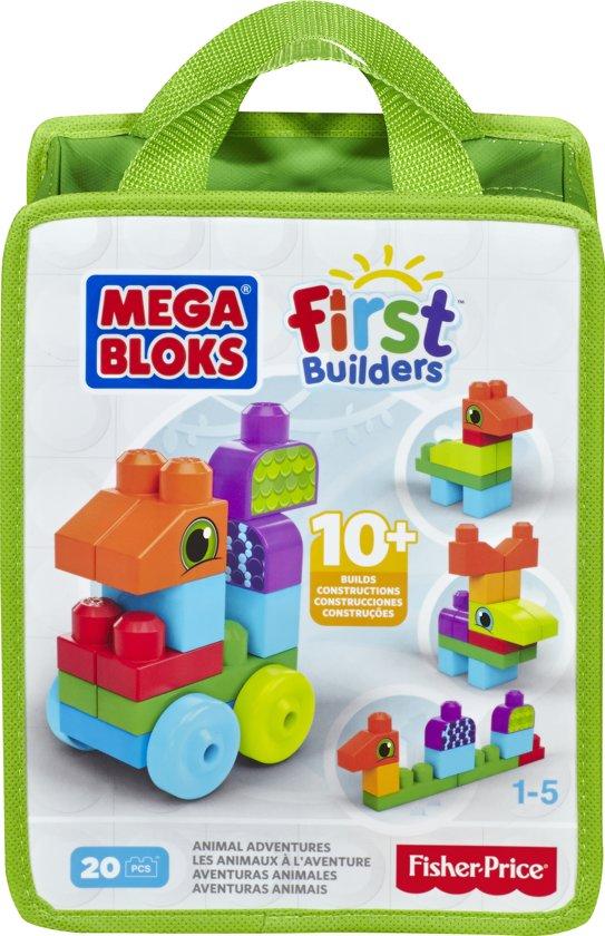 Mega Bloks First Builders Dierenavonturen - Constructiespeelgoed