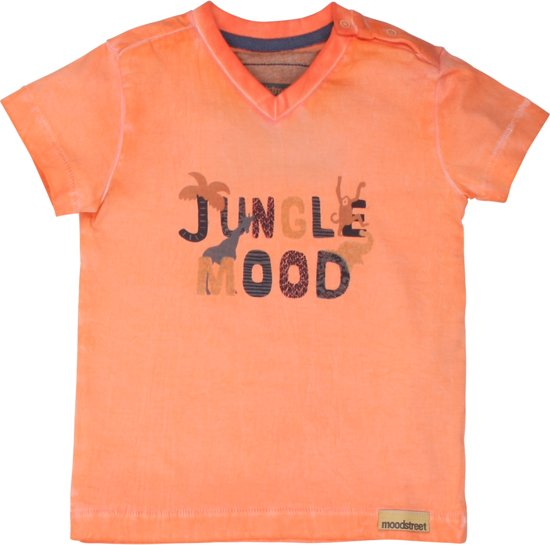 Moodstreet Jongens T-shirt - Soft Orange - Maat 98
