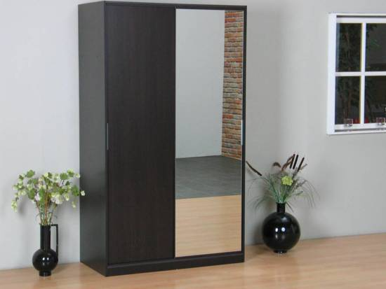 Bol.com tvilum kaja schuifdeurkast 2 deurs kledingkast met spiegel