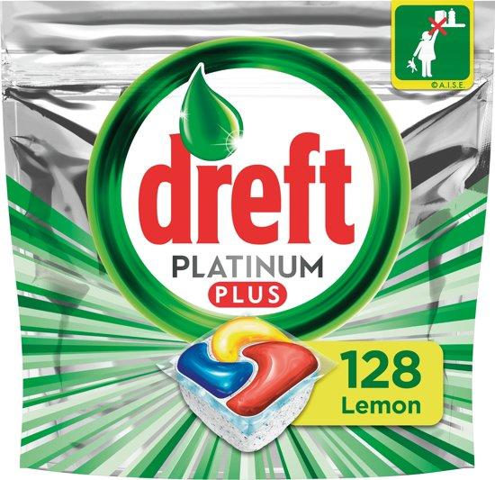 Dreft Platinum Plus - Kwartaalbox 4x32 Stuks - Vaatwastabletten