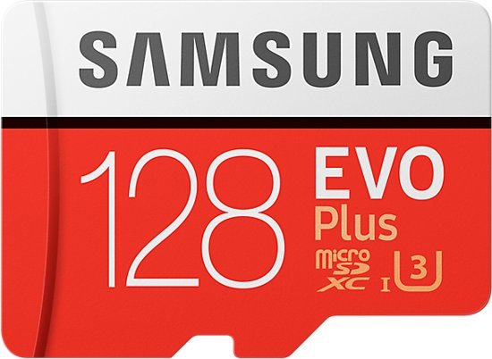 Samsung Evo plus Micro SD 128GB - met adapter