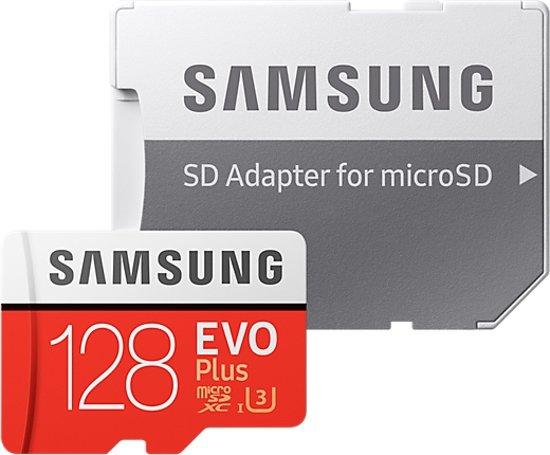 Samsung Evo plus Micro SD 128GB - met adapter