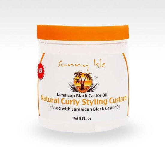 Sunny Isle Jamaican Black Castor Oil Curly Custard 237 ml