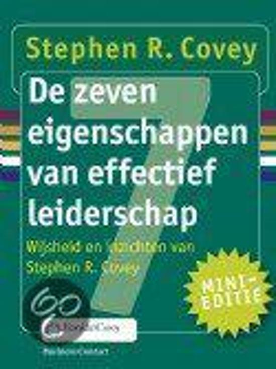 Boek cover Miniboekje De zeven eigenschappen van effectief leiderschap van Stephen R. Covey (Hardcover)