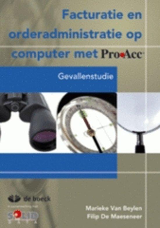 Proacc facturatie en orderadministratie op computer met proacc cd rom